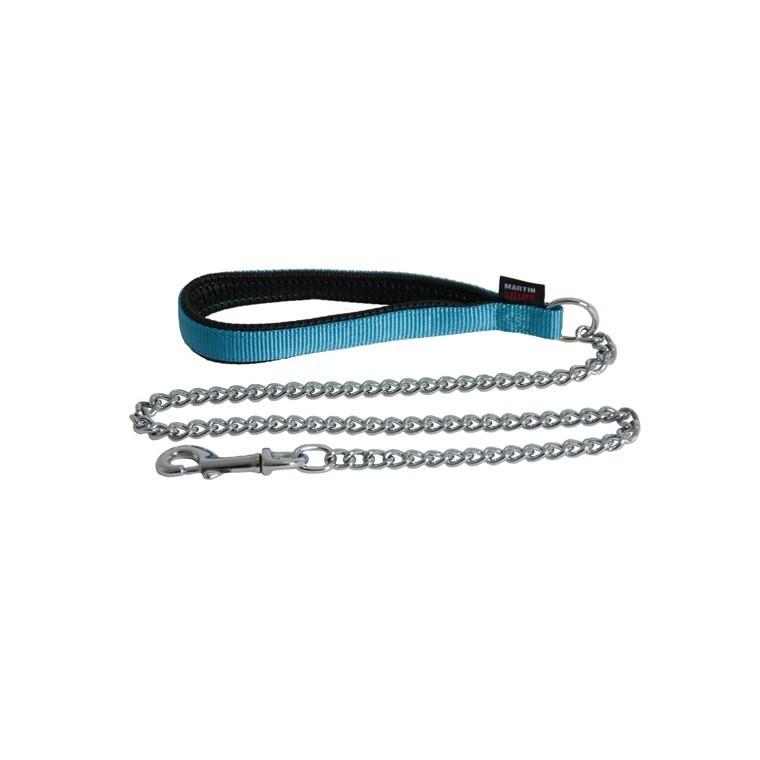 Laisse chaîne turquoise 37302