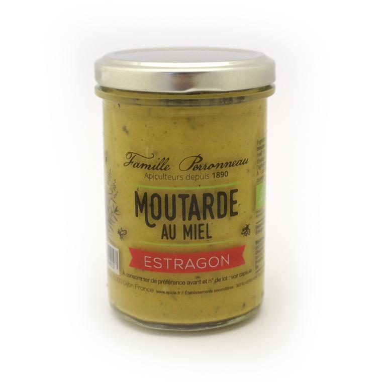 Moutarde au miel et à l'estragon en pot de verre de 210 g 373781