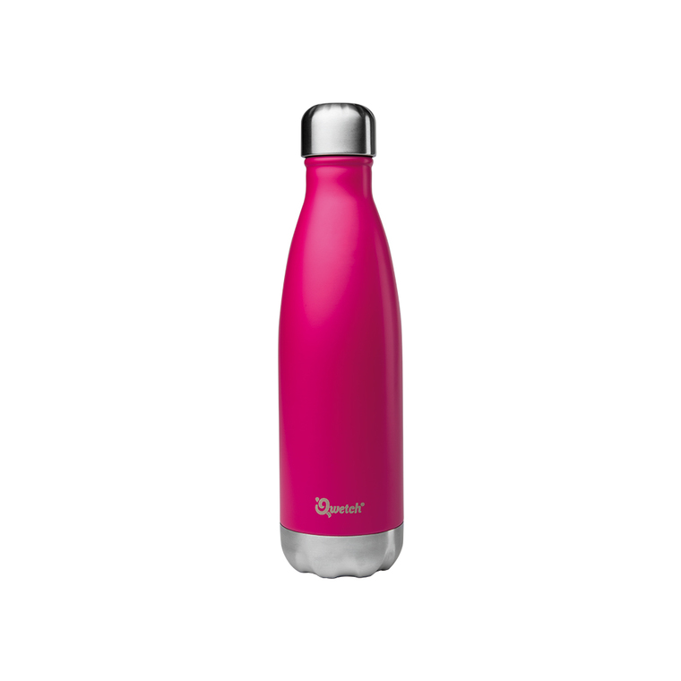 Bouteille isotherme inox Rose 500 ml H 27 cm 374555