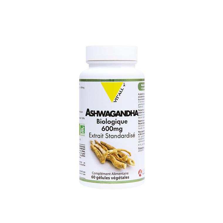 Extrait standardisé d'ashwagandha en boite de 600 mg 375445
