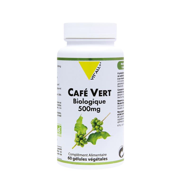Extrait standardisé de café vert bio en boite de 500 mg 375500
