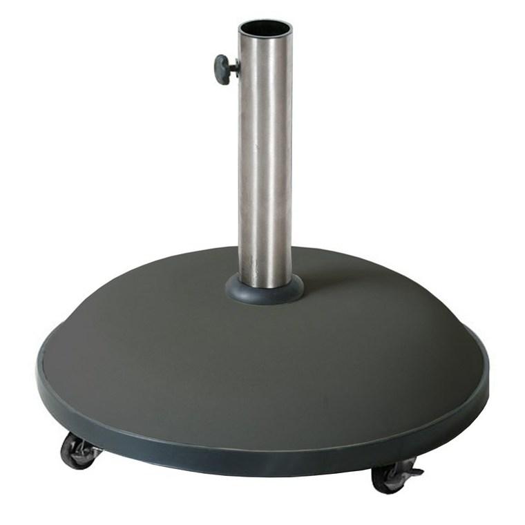 Pied de parasol noir en béton de 35 kg 379108
