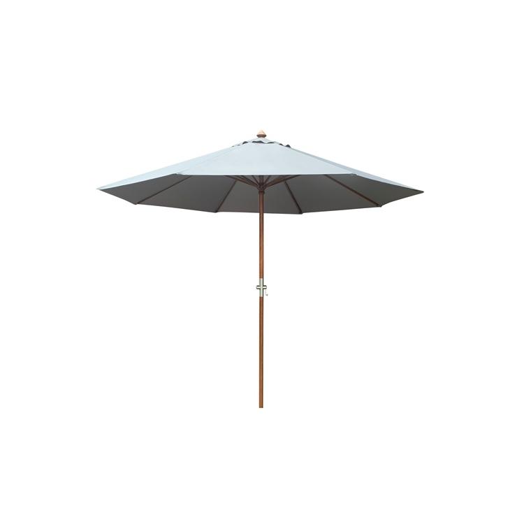 Parasol rond bois écru 379213