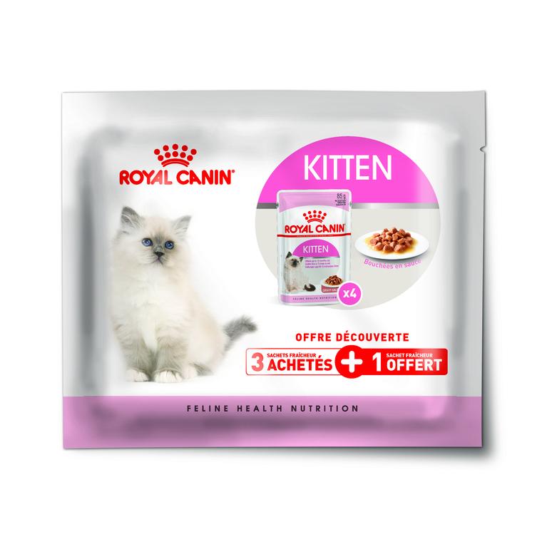 Pack découverte Kitten Instinctive en sauce Royal Canin - 340 gr 379415
