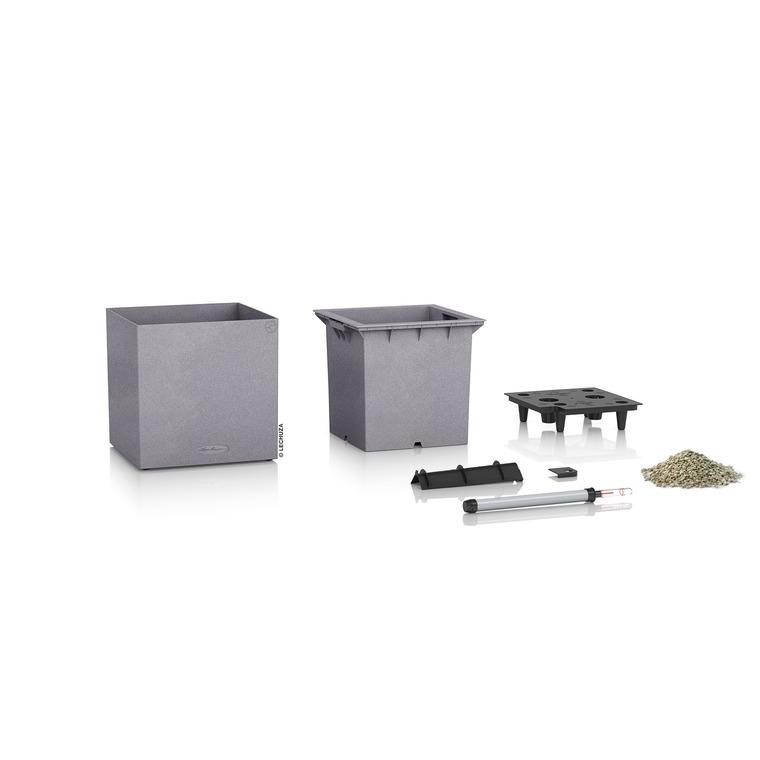 Pot carré gris gamme Canto color L40xl40xH40,8 cm 379583