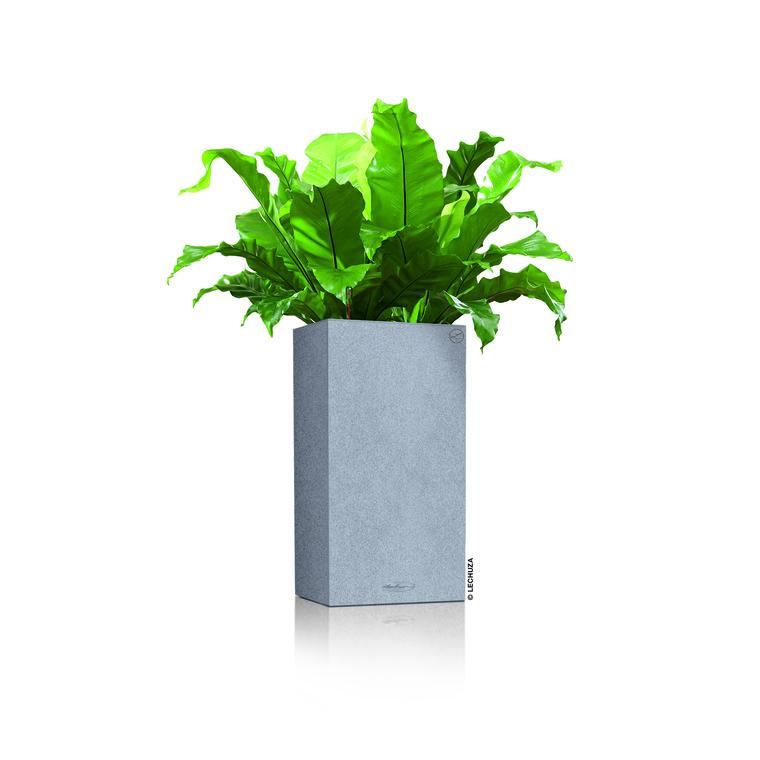 Pot carré haut gris gamme Canto color dimensions L40xl40xH75,8 cm 379586