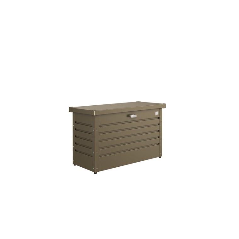 Coffre de jardin bronze métallique 101x46x61 cm 382384