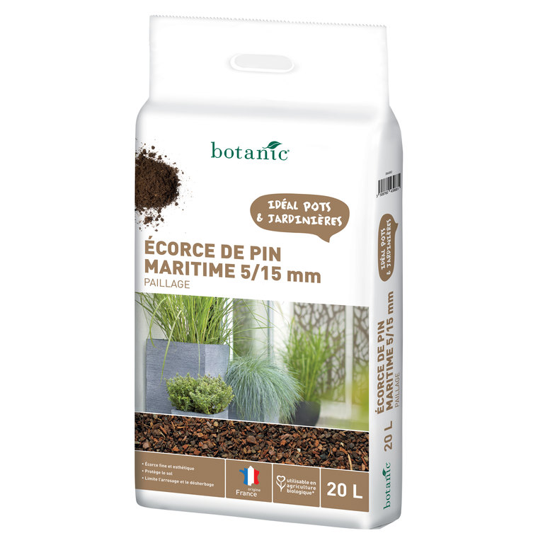 Ecorce de pin maritime 5/15 mm 20 L 386882