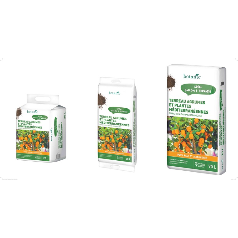 Terreau agrumes et plantes méditerranéennes 40 L 386896