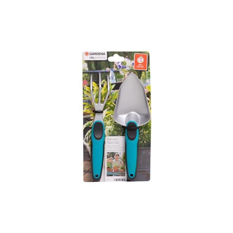 Kit balcon de 2 petits outils de jardinage gris/bleu Gardena 386928