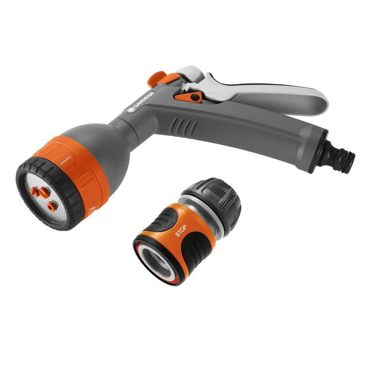 Pistolet multijets orange avec raccord 386935
