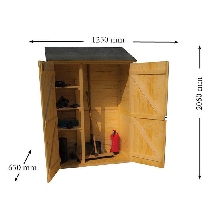 Abri mural multi-usages 3 étagères livré 396277