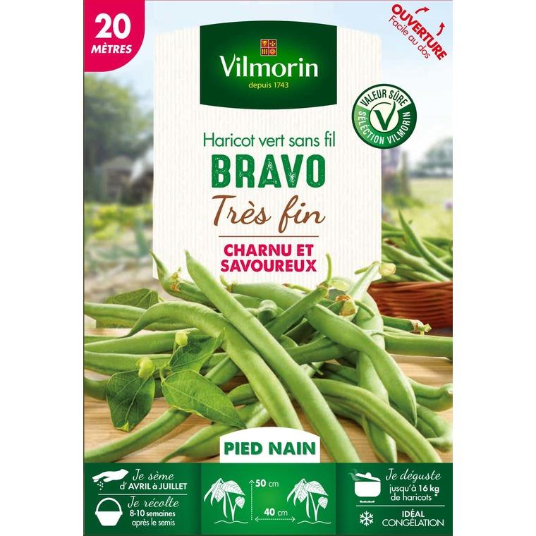 Semences pour haricot nain de la variété bravo – 20 m