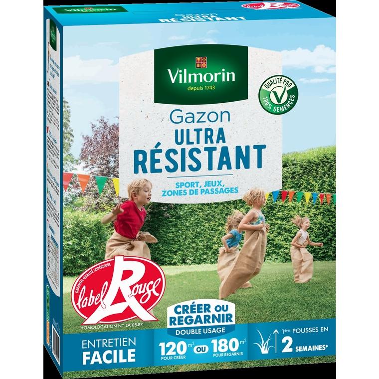 Gazon ultra résistant label rouge Vilmorin 3 kg