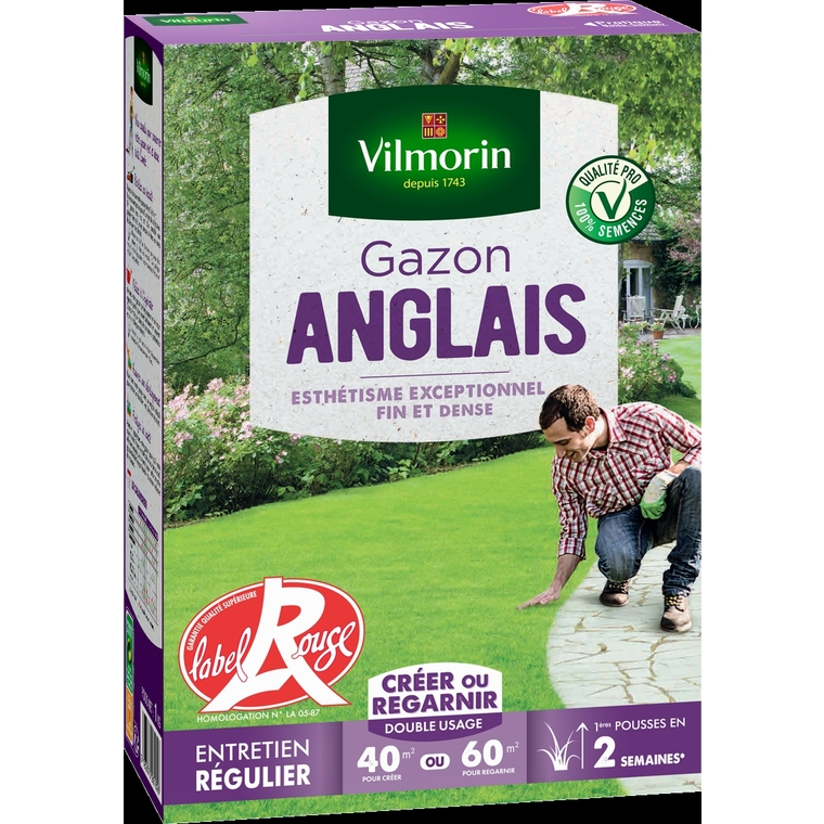 Gazon Anglais label rouge vilmorin 1 kg