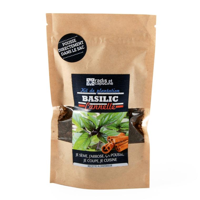 Kit de plantations pour graines de basilic cannelle bio