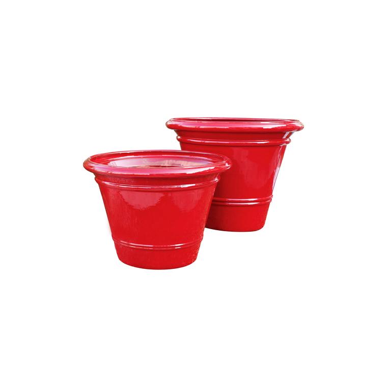 Pot rouge gamme le toscane diam. 52 cm