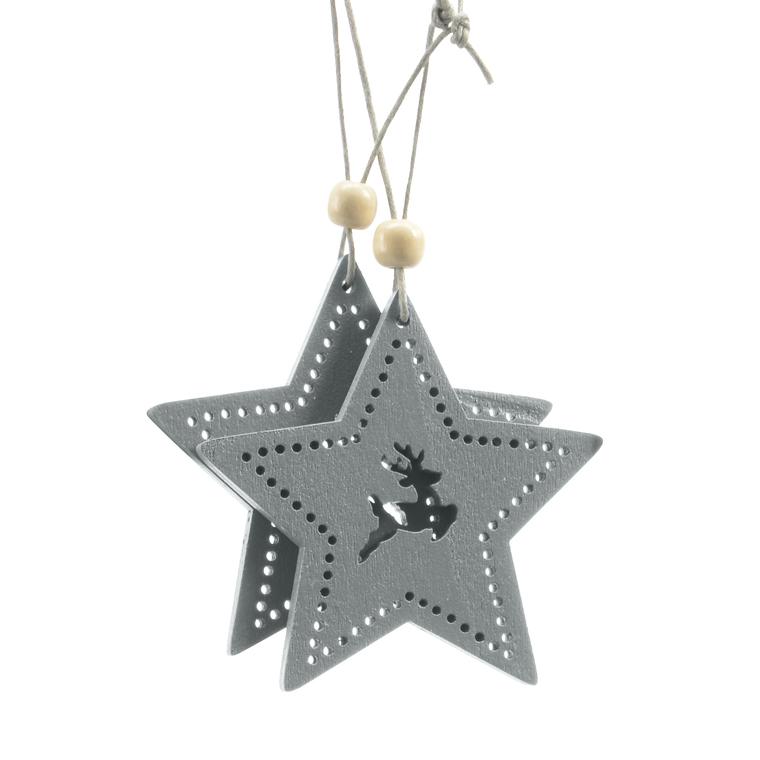 Ornament Cerf Clochette Nœud Suspendu Pendentif Déco Sapin Noël Arbre Party Fête