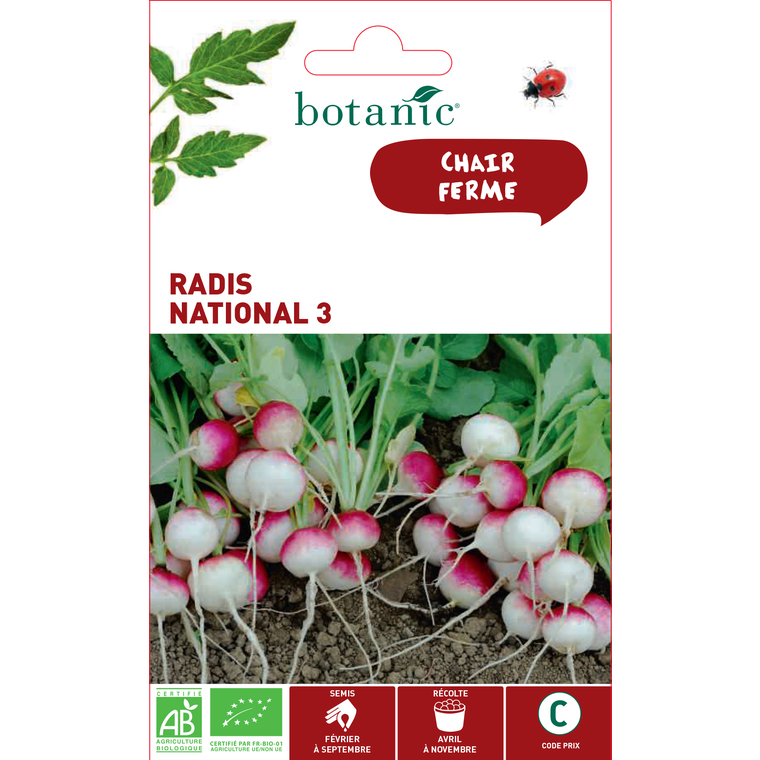 Graines de Radis national 3 bio en sachet