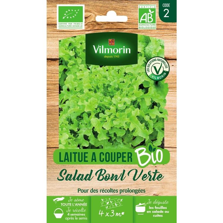 Graines de Laitue à couper Salad Bowl bio en sachet