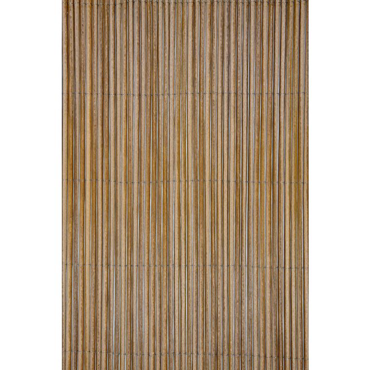 Canisse synthétique Fency Wick coloris marron 300 x 150 cm