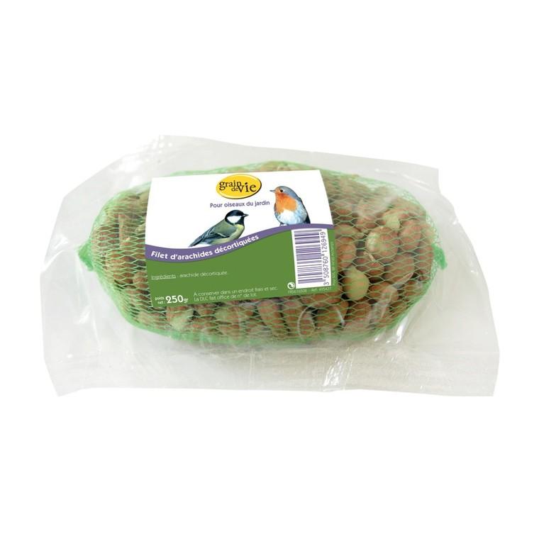 Filet d»arachides décortiquées pour oiseaux 250 g