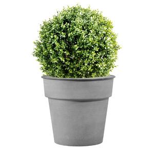Pot horticole en acier peint gris clair Ø 32 x H 28 cm