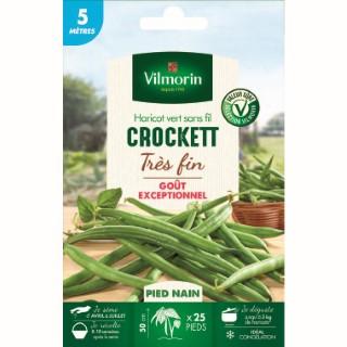 Semences pour haricot nain de la variété crockett - 5 m 400169