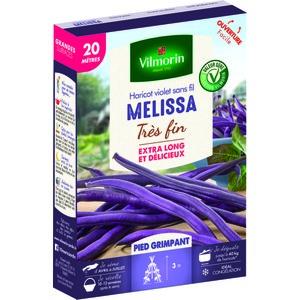 Semences pour haricot nain de la variété melissa - 20 m 400171