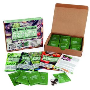 Coffret de 52 sachets de semences pour jardin potager et d'ornement 400517