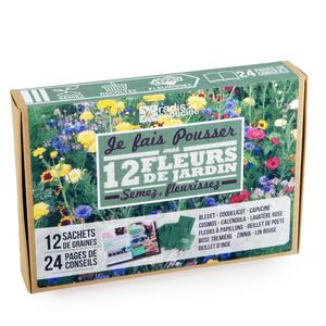 Coffret de 12 sachets de fleurs