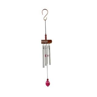 Carillon mini gemme rose en aluminium, H 20 X Ø 5cm 402052
