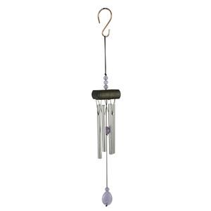 Carillon mini gemme violet en aluminium, H 20 X Ø 5cm 402053