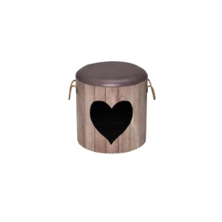 Maisonnette pet box heart anthracite Ø 35 x H 34 cm  402157