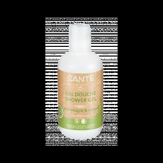 Gel douche à l'ananas et au citron bio en flacon de 200 ml 402181