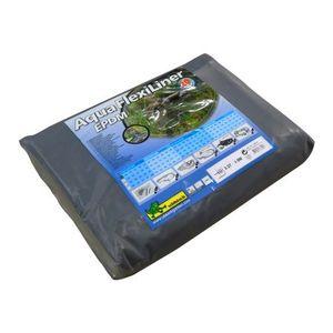Bâche pour bassin 0,6 mm Aquaflexiliner noire 3,36x5 m 402485