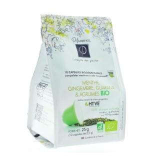 Infusion bio menthe gingembre guarana et agrumes en format 10 capsules 403166