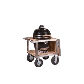 Barbecue fumoir monolith classic noir avec buggy et rangement 407443