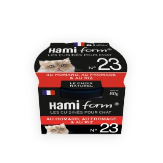 Boîte Chat Hamiform 80g, homard, fromage et riz 407772