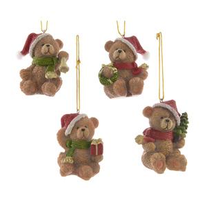Ours de Noël à suspendre Brun 6x4,7x4,4 cm 407851