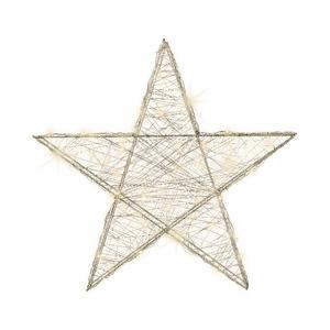 Étoile en fil beige à micro LED 7 x 50 x 47 cm