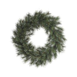 Couronne norway givrée vert et blanc Ø 50 cm 407889