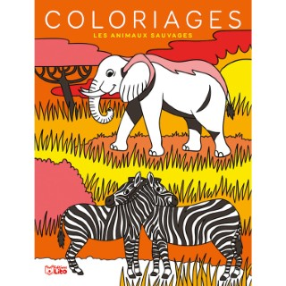 Les Animaux Sauvages Mes grands coloriages  6 ans Éditions Lito 408614