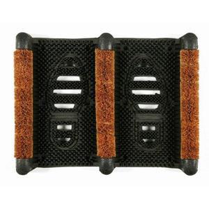 Paillasson d'extérieur Finlande noir et marron en caoutchouc - 40 x 30 cm