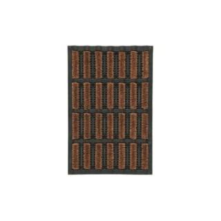 Paillasson d'extérieur Lettonie noir et marron en caoutchouc - 60 x 40 cm 41012