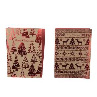 Cartes en papier artisanal brun 410523