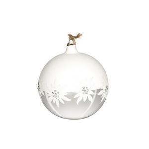 Boule décorée aux motifs de flocons blancs Ø 8 cm 411566