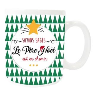 Mug « Père Noël est en chemin » - 8x9.5 cm 411650