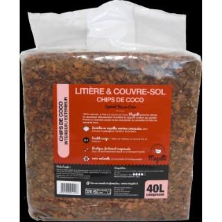 Litière et couvre-sol chips de coco Magalli 40 L 412666