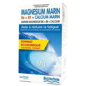 Magnésium marin et vitamine B6 en format de 100 gélules 413459